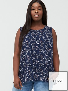 junarose-curve-maika-sleeveless-top-navy
