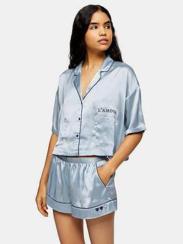 topshop-pyjama-shirt-blue