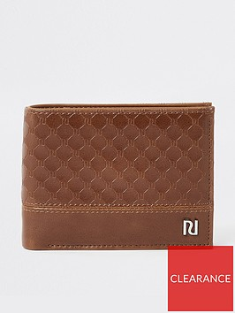 river-island-tan-ri-monogram-wallet