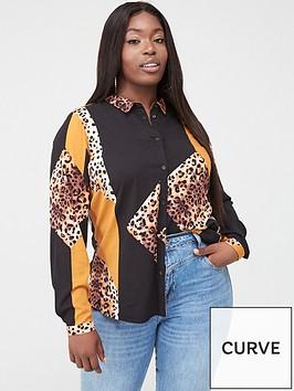 junarose-koi-mixed-print-shirt-multi