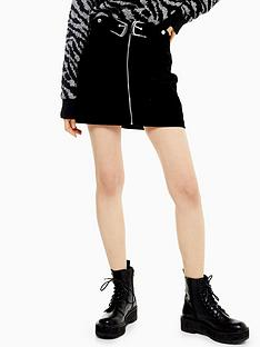 topshop-double-buckle-corduroy-skirt-black