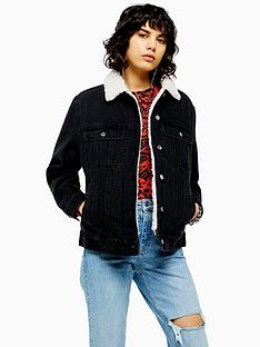 topshop-borg-denim-jacket-washed-black