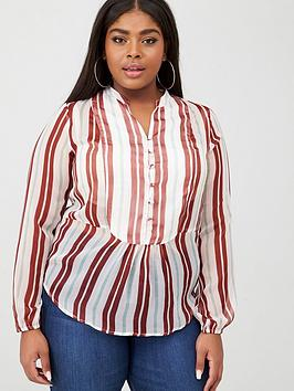 junarose ebba stripe blouse - multi