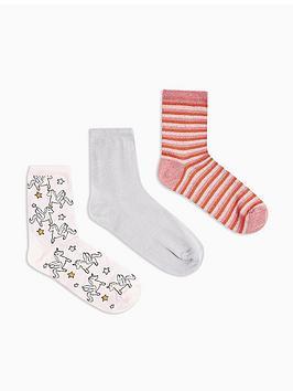 topshop-3-pack-unicorn-socks-multi