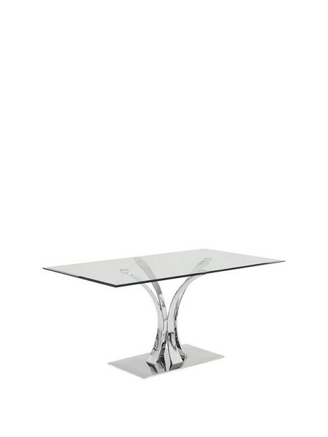 alice-160-cm-clear-glass-and-chrome-rectangle-dining-table