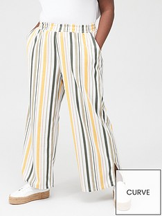 junarose-magali-striped-casual-trousers-multi