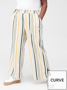 junarose-magali-striped-casual-trousers-multi