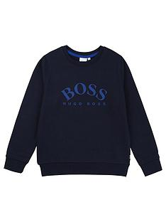 boss-boys-classic-logo-crew-sweat-top-navy