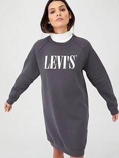 levis-crew-sweatshirt-dress-grey