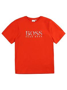 boss-boys-short-sleeve-large-logo-t-shirt-orange