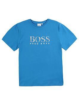 boss-boys-short-sleeve-large-logo-t-shirt-turquoise