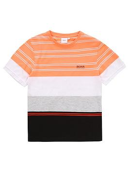 boss-boys-short-sleeve-stripe-block-t-shirt-orange