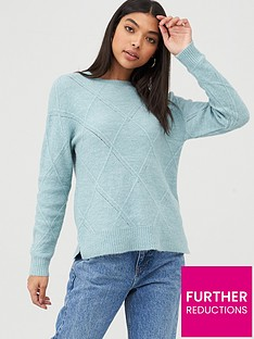 oasis-argyle-stitch-jumper-pale-green