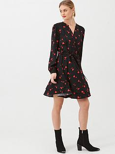oasis-rose-bud-shirt-dress-multiblack
