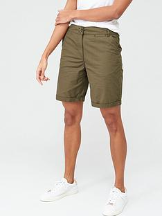 v-by-very-longer-length-poplin-short-khaki