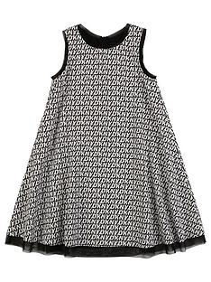 dkny-girls-multi-logo-swing-dress-black