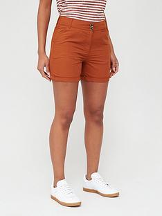 v-by-very-poplin-shorts-rust