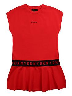 dkny-girls-logo-peplum-jersey-dress-red