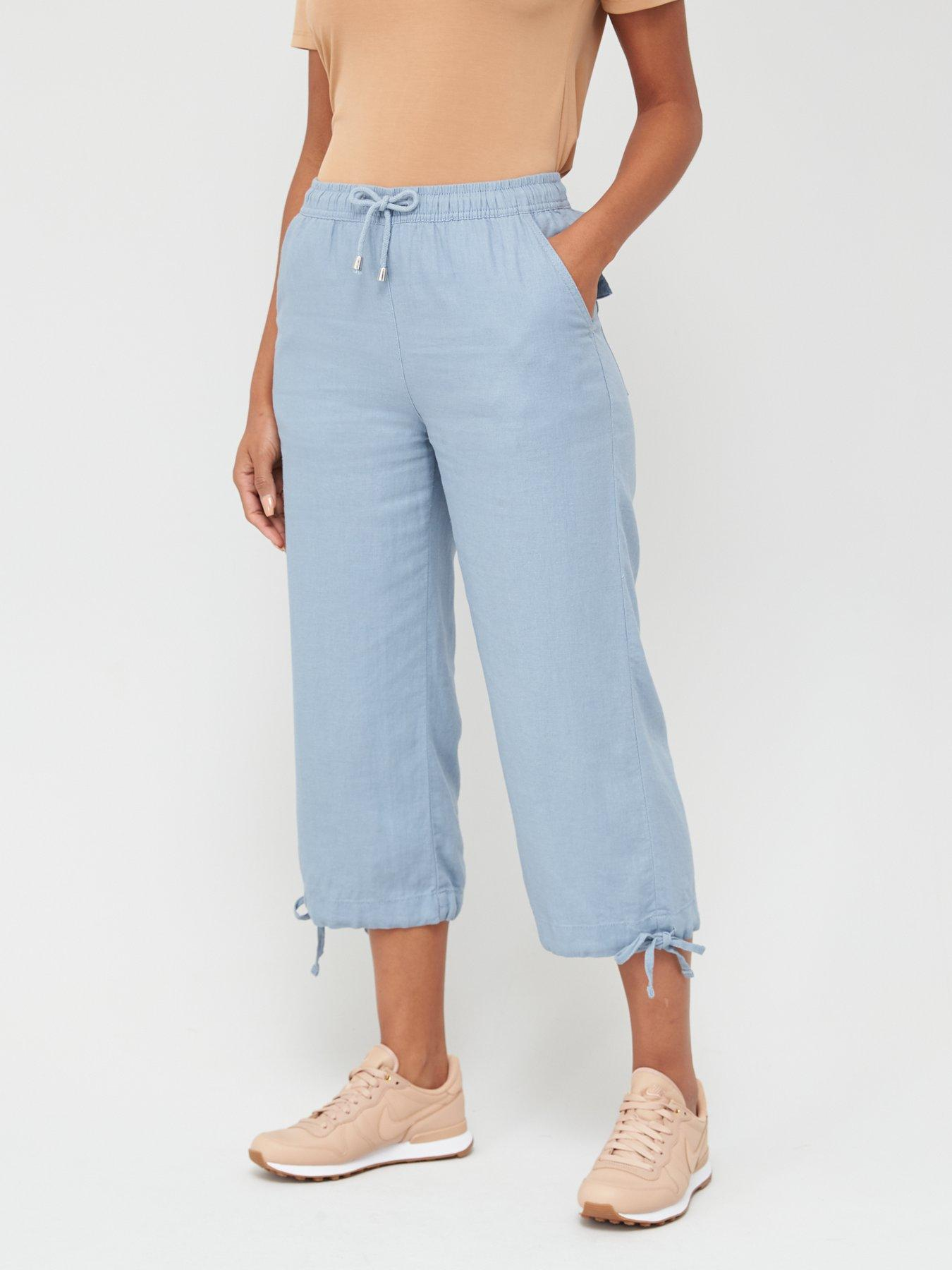 Womens NEXT Linen Trousers Ladies Summer Casual Size UK 20-26 Holiday Free P/&P