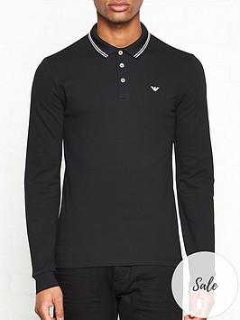 emporio-armani-long-polo-shirt-black
