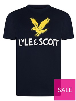 lyle-scott-boys-short-sleeve-eagle-logo-t-shirt-navy