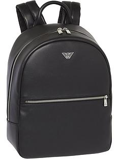 emporio-armani-menrsquos-eagle-logo-backpack-black