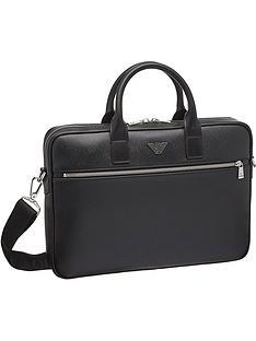 emporio-armani-menrsquos-eagle-logo-briefcase-black