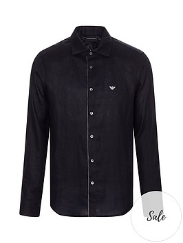 emporio-armani-eagle-logo-simple-long-sleeve-shirt-black