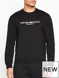 emporio-armani-logo-print-sweatshirt--black