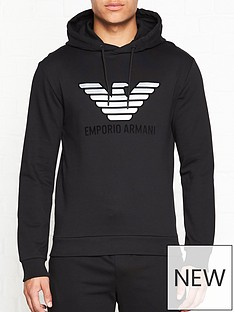 emporio-armani-eagle-logo-hoodienbsp--black