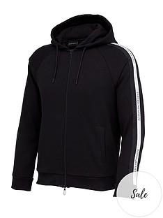 emporio-armani-logo-tape-hoodie-black