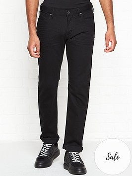 emporio-armani-plain-slim-fit-jeans-black