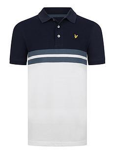 lyle-scott-boys-short-sleeve-yoke-stripe-polo-white