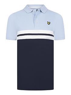 lyle-scott-boys-short-sleeve-yoke-stripe-polo-chambray-blue