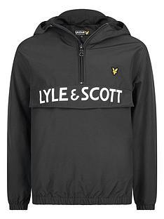 lyle-scott-boys-pullovernbsplogo-windcheater-black