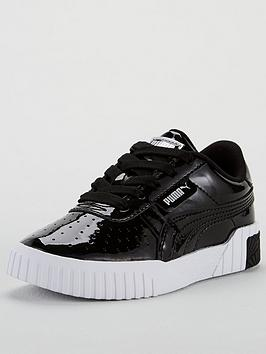 puma-cali-patent-childrens-trainers-black