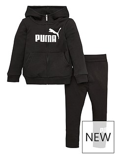 puma-girls-essentials-zip-through-hoodie-and-legging-set-black
