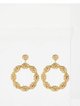 v-by-very-textured-drop-hoop-earrings-gold