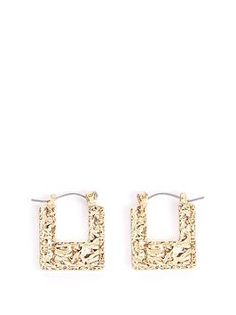 v-by-very-tex-square-hoop-earrings-gold