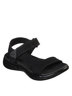 skechers-on-the-go-600-rubix-flat-sandal-black