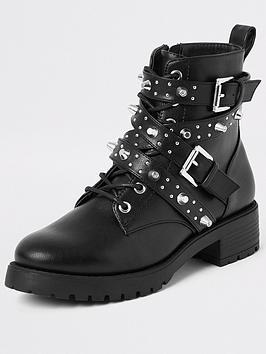 river-island-river-island-embellished-buckle-boot-black
