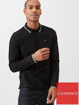 v-by-very-long-sleeved-tipped-pique-polo-shirt-black