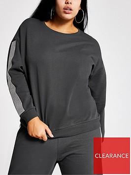 ri-plus-ri-plus-embellished-sleeve-co-ord-sweatshirt-grey