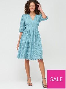 v-by-very-broderie-button-through-midi-dress-blue