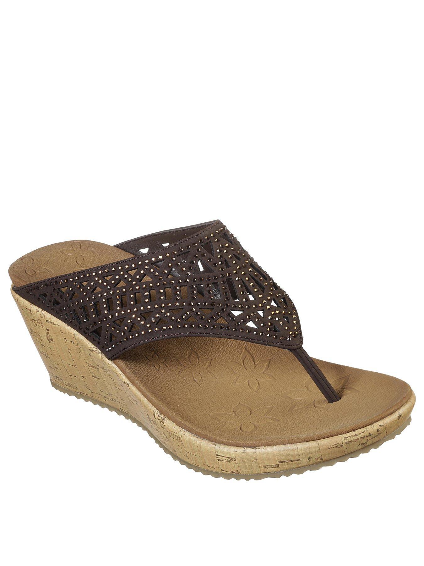 Visit Wedge Mule Sandal - Chocolate