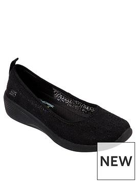 skechers-arya-airy-days-ballerina-shoes-black