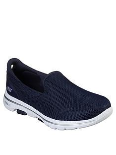skechers-go-walk-5-wide-fit-athletic-air-meshnbspslip-on-pump-navy