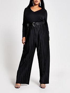 ri-plus-plisse-wrap-jumpsuit-black