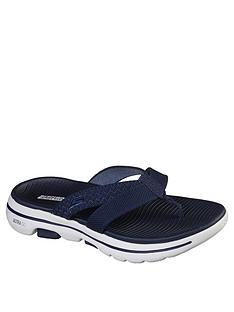 skechers-go-walk-5-sun-kiss-flip-flop-flat-sandal-navy
