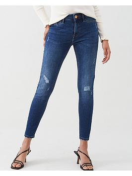 river-island-river-island-molly-mid-rise-ripped-knee-jeggings-blue